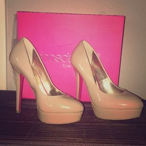 Shoedazzle 'Chanelle' nude heels 👠